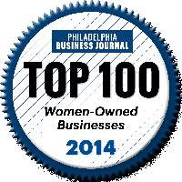 Philadelphia Business Journal Top 100 Women-Owned Businesses 2014 logo.