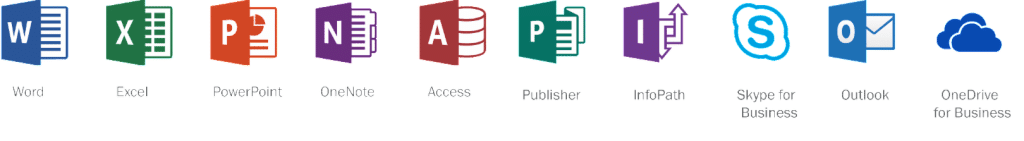 Office 365 Row Icons - Combined