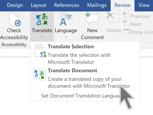Microsoft's Translation Feature – Tech Tip for April 10, 2018