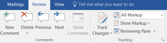 Track Changes in Microsoft Word
