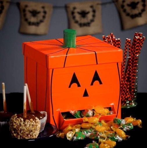 Clever Halloween pump candy dispenser