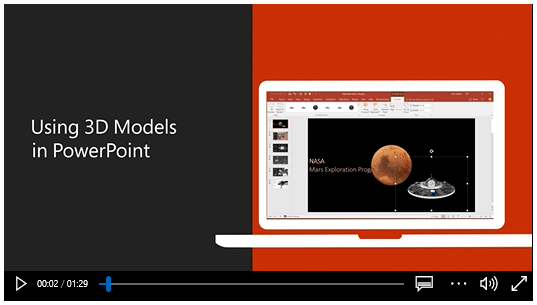 Learn how to use 3D models in PowerPoint