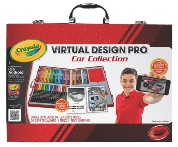 Crayola Virtual Design ProCollection lets kids create colorful cars in the physical world and see them come to life in the virtual world.
