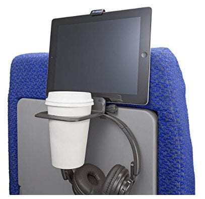 The Airhook is a stable drink holder and a secure mount for an electronics device