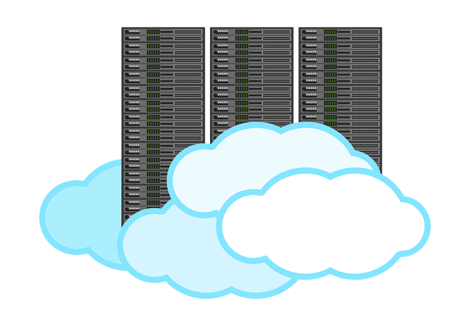 Illustration of a cloud server