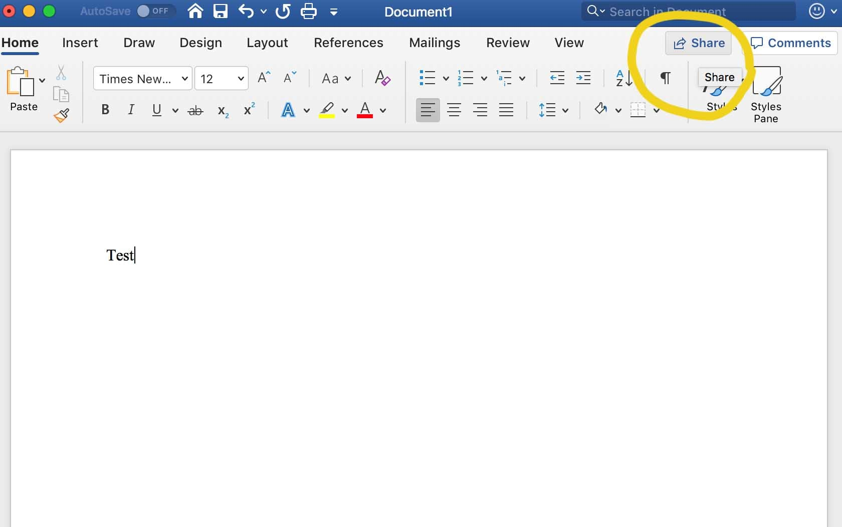 Invite others to work on your document, by clicking Share in the top-right corner of your doc.