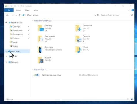 Backed-up files are shown in the OneDrive folder in Microsoft File Explorer.