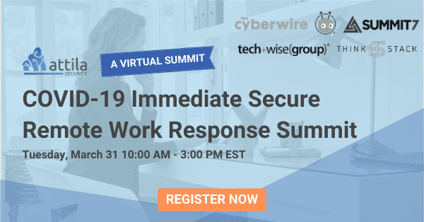 Registration for secure remote work summit