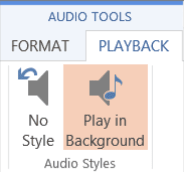 Microsoft PowerPoint audio tools