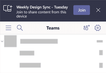 You can join a Teams meeting from multiple devices - this can be useful when you want to share content from your phone during a meeting.