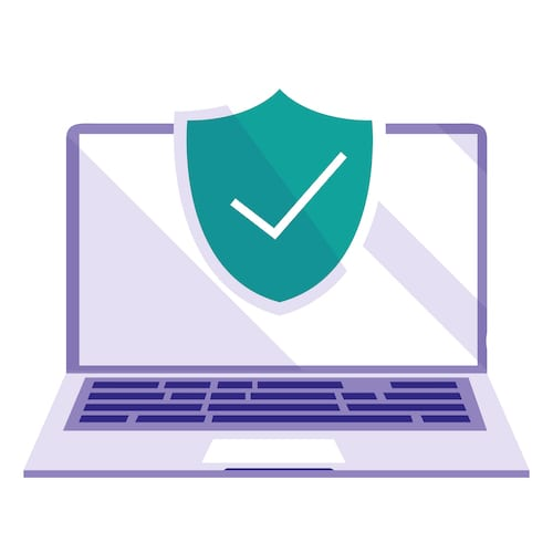 Laptop protected by Windows Defender for Office 365, a cloud-based email filter service.