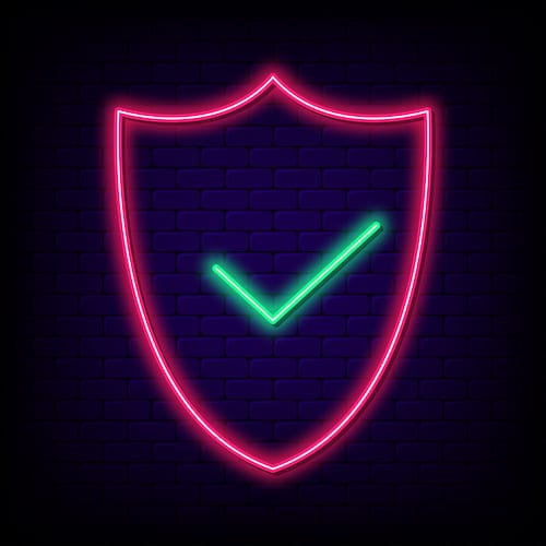 Cybersecurity symbol. The best gift to give your business is better cybersecurity.