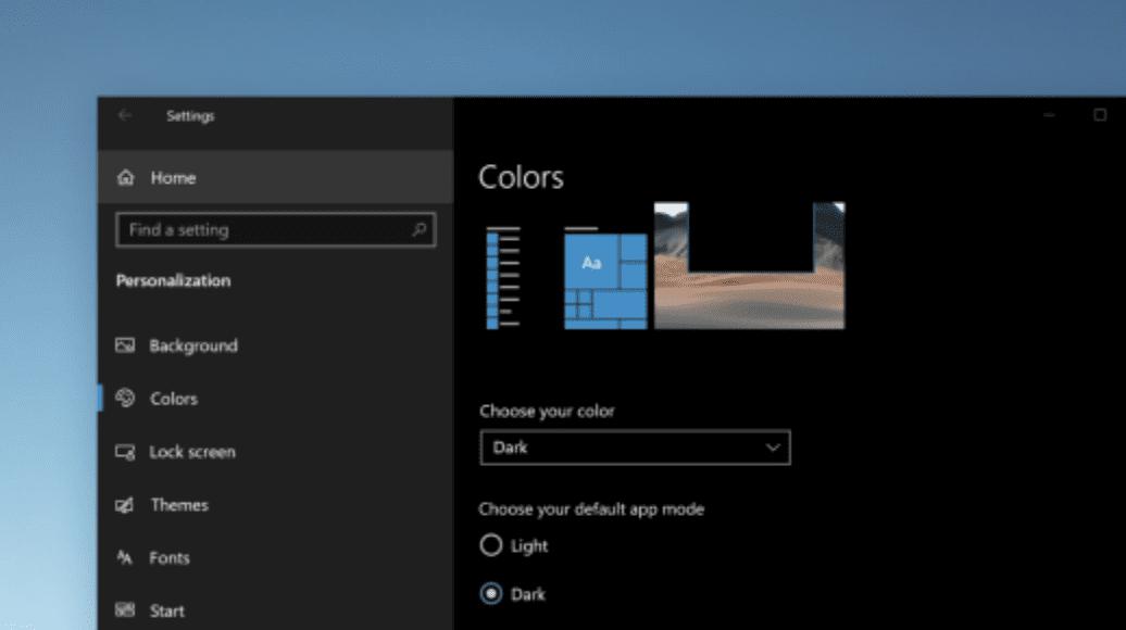 Windows 10 Color Mode can enhance screen readability.