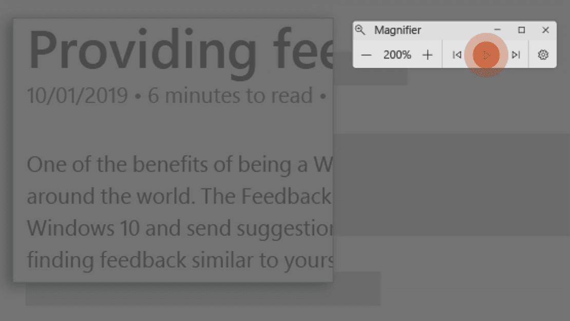 Windows 10 Magnifier can enhance screen readability