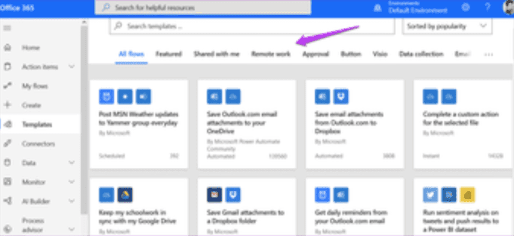 Examples of what Microsoft Power Automate can do.
