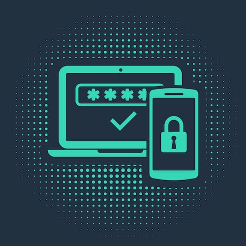 Multi-factor authentication icon. MFA is a method that strengthens access security by requiring multiple factors to confirm a user's identity.