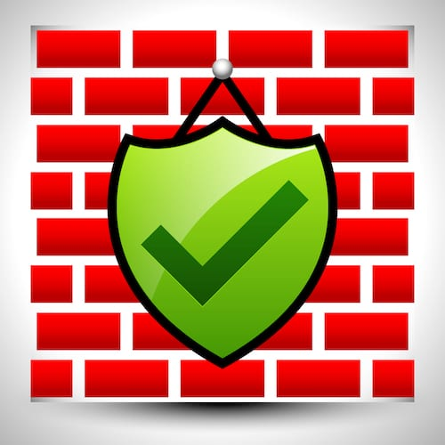 Firewall icon. WAFs, such as Microsoft Azure, provide an important layer of security to keep a website and network secure from cyber threats.