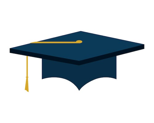 Graduation mortar board. The right tech gift will help high school grads who are heading off to college get their classwork done.