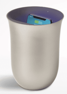 Lexon wireless charger and sanitizer
