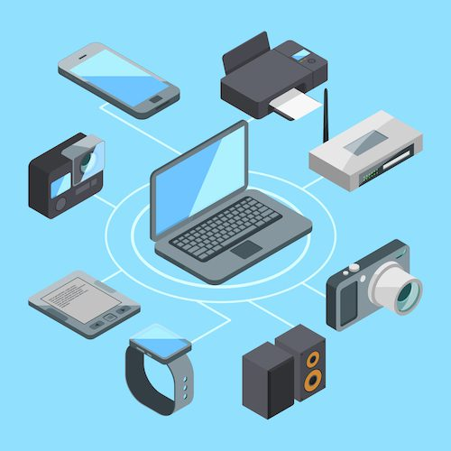 Internet connected devices. To mitigate security breaches, ensure you protect all connected devices.